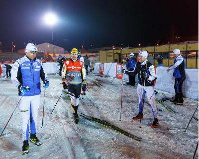 2015. aastal Otepää MK etapi avamisel hooldemeeste võistluse aegu, vasakult Raul Seema, Anti Saarepuu ja Meelis Aasla