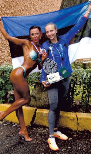 Endla koos õe Lembiga Mehhikos juunioride MM-il Foto erakogu