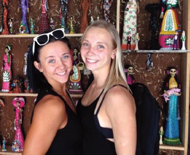 Endla koos õe Lembiga Mehhikos juunioride MM-il foto: erakogu