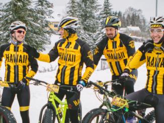 Fotol vasakult: Ain-Alar Juhanson (võistluste direktor ning Taneli ja Kalevi treener), Norman Salumäe, Tanel Padar, Kalev Kruus, Priit Salumäe, Allan Oras. Foto: Rando Kall
