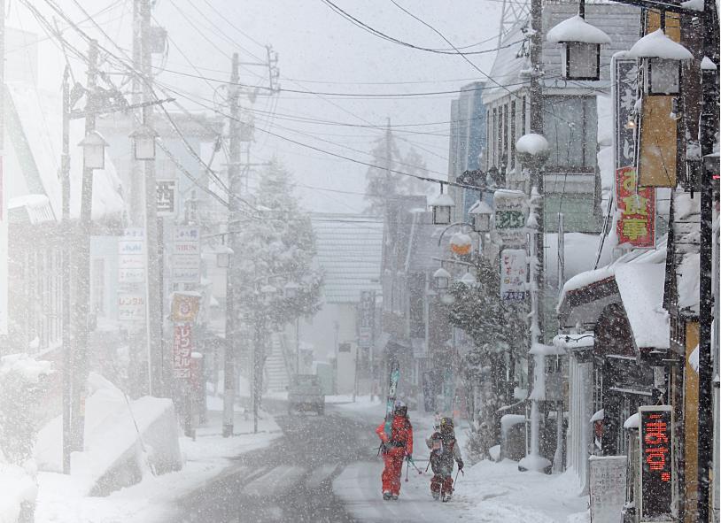 Jaapani lumesadu ja Eesti suusatajad Henry ja Kelly foto erakogu