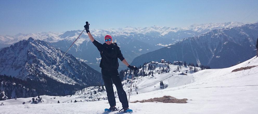 Austria loodus võitis Kaire südame. Pildil on ta mägedes räätsamatkal. Foto erakogu