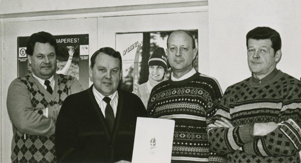ETV sporditoimetus: Tiit Rääk, Toomas Uba, Tarvo Villomann ja Tõnu Tammaru Foto
