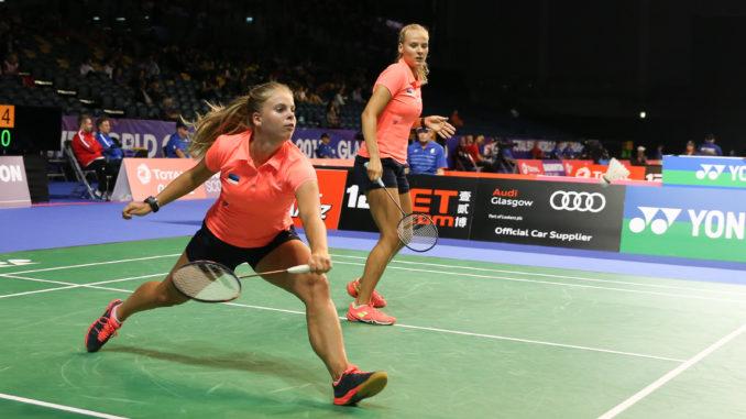 Eesti tüdrukud Kristin Kuuba ja Helina Rüütel lõpetasid MM-debüüdi 17. kohaga.