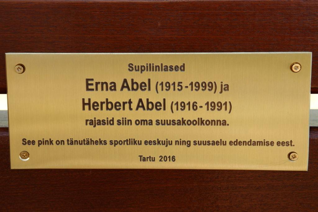 Abelite mälestuseks avati ka nende nimeline pink