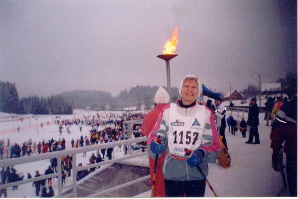 Kadri Tinits 1999. aastal Tartu maratonil
