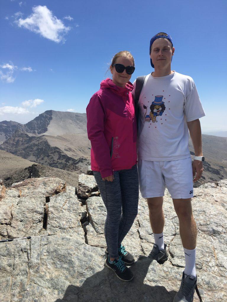 Laura ja Kristjan reisil Sierra Nevadas 2017. Aastal