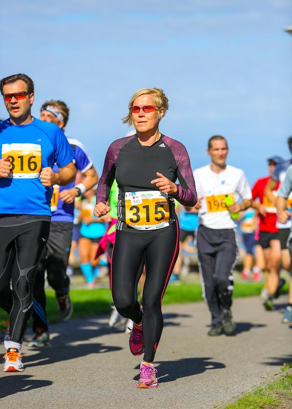 Ülle Madise 2105. aasta Tallinna maratoni 10 km distantsil Foto Kristo Parksepp / Sportfoto.com