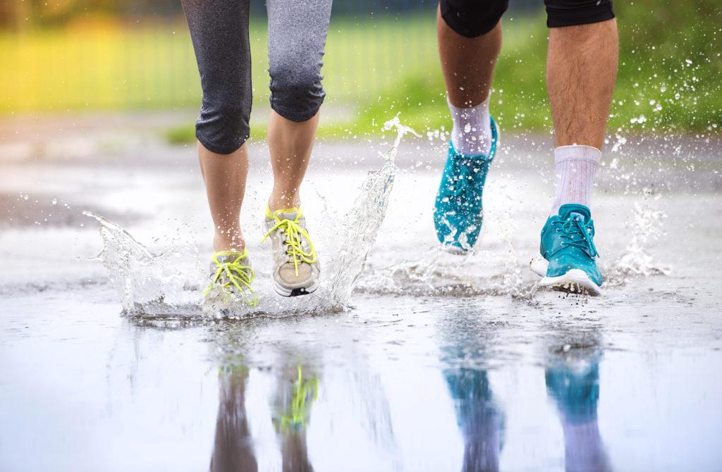 Treening vihmase ilmaga võib olla omaette nauding, kui oskad pisiasjadest rõõmu tunda. Foto: Shutterstock.com