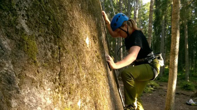 Marge Taivere keskendub Soome graniidil, oluliseim hetk ronimises on start, kuidas end meelestad nii ka läheb.