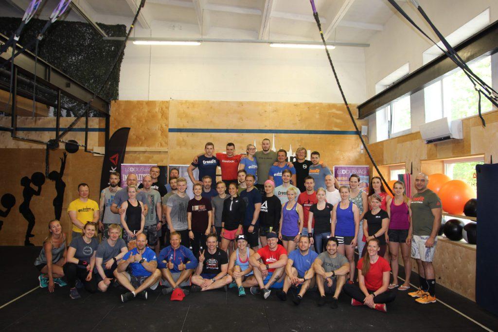 Tallinn CrossFit Spring Madness võistlusel osalejad