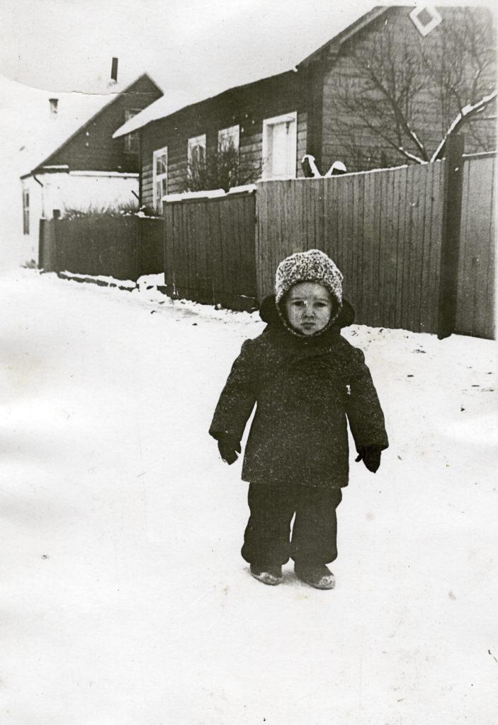 1960. aasta talv Kuressaares Lenini tänaval