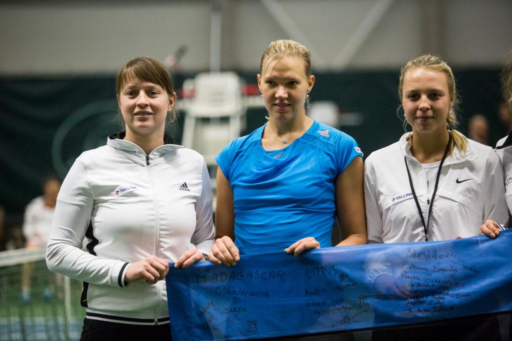 Maret, Kaia ja Anett 2014. aasta Fed Cupil Foto Eero Vabamägi / Ekspress Meedia / Scanpix