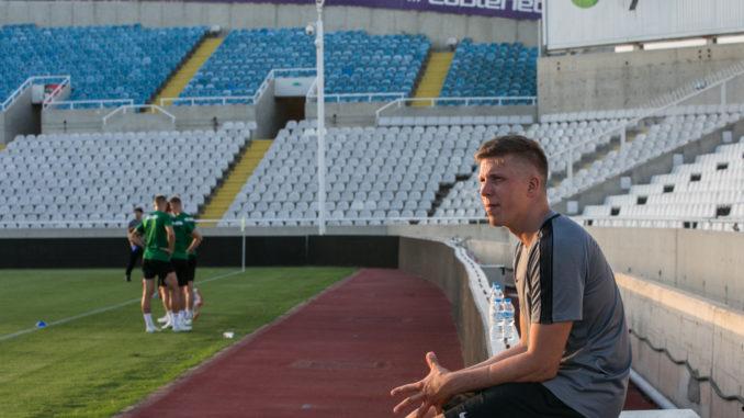 Küprosel, Nicosia staadionil mängueelses trennis Foto Brit Maria Tael