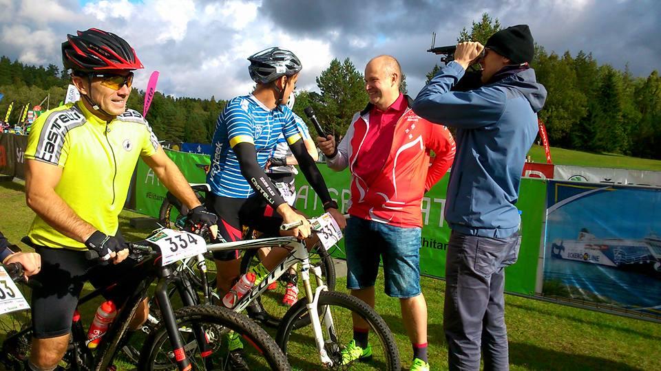 Eesti jalgpallilegende intervjueerimas - Tallinna ratttamaraton 2017