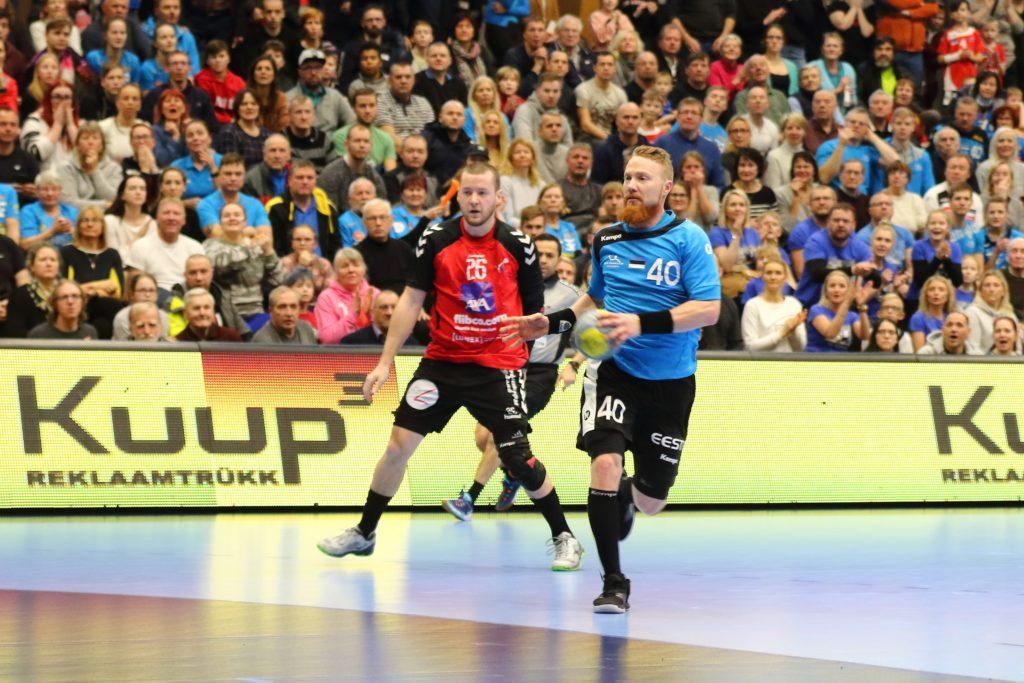 Jürgen Rooba mängus Eesti-Luksemburg Foto: Helin Potter