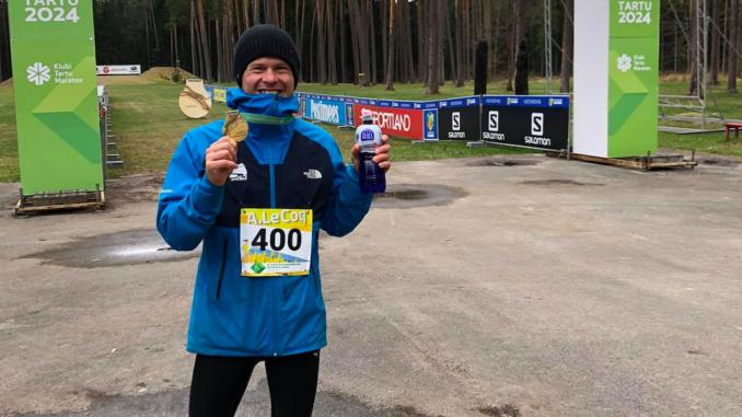 Kunnar Karu 39. Tartu Maastikumaratoni finišis. Autor: Liisa-Lotta Veiken
