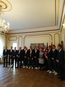 Läti meeskond saatkonna vastuvõtul